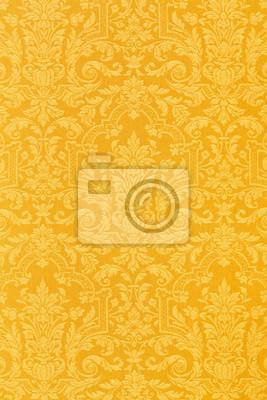 Floral goldenen Tapeten Textur Hintergrund