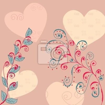 Floral Gruß Hintergrund im romantischen Stil