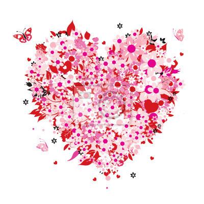 Floral Herzform