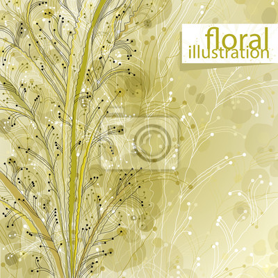 Fototapete Floral Illustration, Vektor Hintergrund.