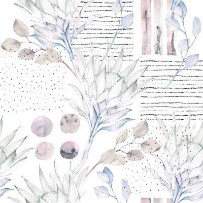 Fototapete Floral nahtlose Muster. Grunge hintergrund
