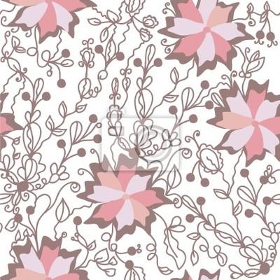 Floral nahtlose Muster mit großen rosa Blumen