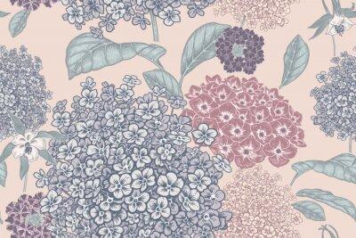 Fototapete Floral pastel color background. Vintage seamless pattern. Vintage. Vector.