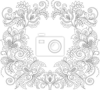 Floral rahmen. blumen dekorative muster. ornament hintergrund ...