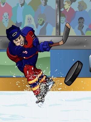 Fototapete Florida ice hockey player.