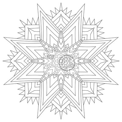 Flower circular mandala for adults. coloring book page ...