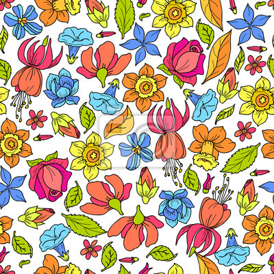 Flowers Pattern Colored