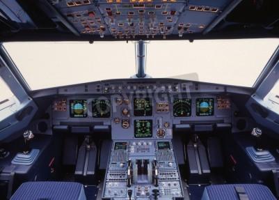 Fototapete Flugzeug-Cockpit eines modernen Passagierflugzeug