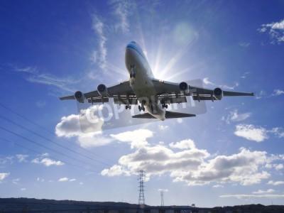 Fototapete Flugzeug entfernen