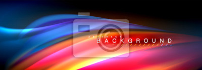 Fototapete Fluid color wave line background. Trendy abstract layout template for business or technology presentation, internet poster or web brochure cover, wallpaper