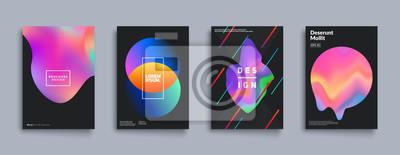 Fototapete Flüssige Farbabdeckungen. Flüssigkeitsformzusammensetzung. Futuristische Designplakate Eps10-Vektor.