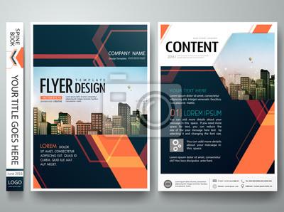 Flyer Design Vorlage Vectorabstract Blau Deckblatt Portfolio