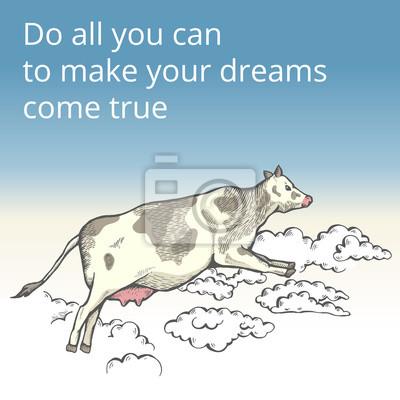 Flying Cow In The Clouds Fototapete Fototapeten Mare Design