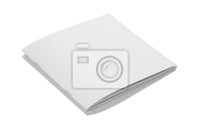Folded white blank broschüre zeitschriften cover für mockups ...
