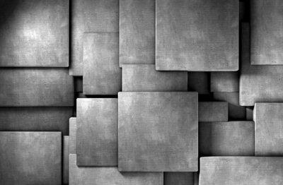 Fototapete fondo abstracto 3d, bloques de cemento