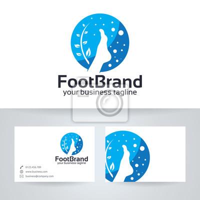 Foot Marke Vektor Logo Mit Visitenkarte Vorlage Fototapete