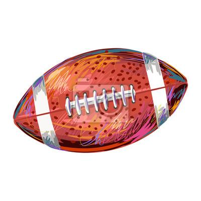 Football Erstellt durch Berufskünstler. Alle Elemente sind in separaten Ebenen gepflegt und auch sehr einfach zu bearbeiten gruppiert.