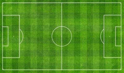 Fototapete football  field top view