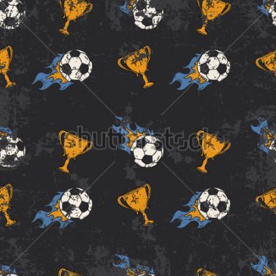 Fototapete Football pattern