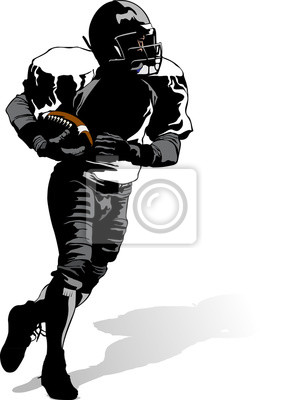 Football Runner with Shadow