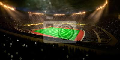 Football Stadium, Trophy, Lighting Equipment, Grass, Floodlit