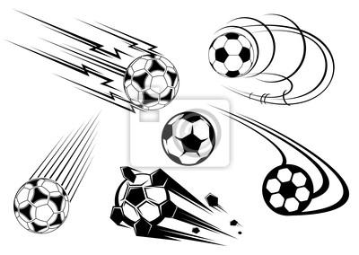 Football und Fußball Symbole und Maskottchen