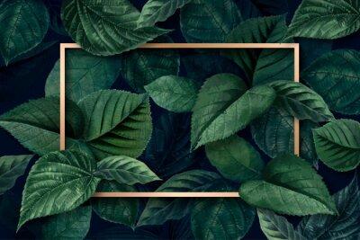 Fototapete Forest leaf frame