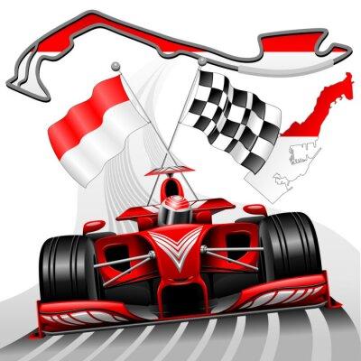 Fototapete Formel 1 GP Monaco