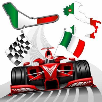 Fototapete Formel 1 Red Race Car GP Monza Italien
