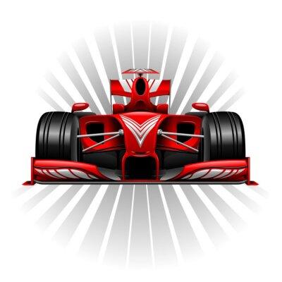 Fototapete Formel 1 Red Racing Car