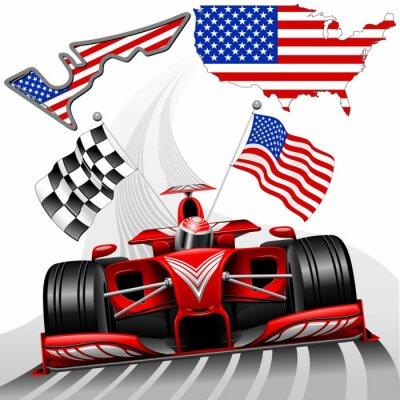 Fototapete Formel-1-Rennwagen GP Austin USA