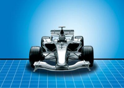 Fototapete Formel Eins, Geschwindigkeit Konzept
