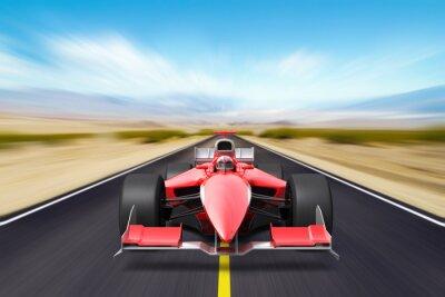 Fototapete Formula race red car