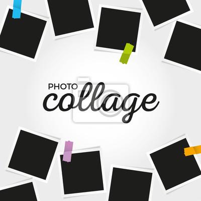 Foto collage vorlage fototapete • fototapeten Instant, realistisch ...