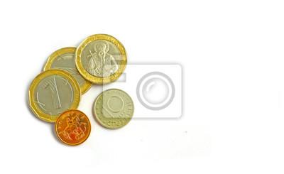 Foto Stellt Die Bulgarische Währung Dar Die Münzen Die Auf