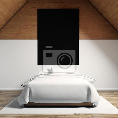 Foto von moder schlafzimmer im chale haus. leere schwarze ...