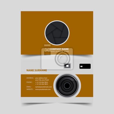 Fotograf Visitenkarte Design Vorlage Fototapete