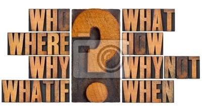 Fragen im Buchdruck Holz-Art