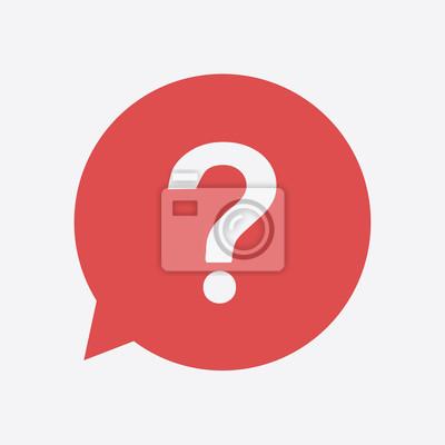 Fototapete Fragezeichenzeichen Symbol. Hilfesymbol. FAQ-Zeichen Flache Design-Stil.