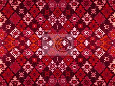 Fragment Der Zier Teppich Grun Blau Rot Rosa Grau Violett Gelb