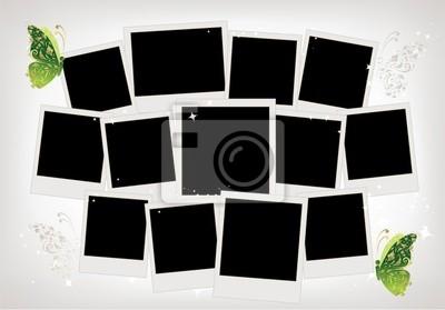 Frames-Collage mit Schmetterling Dekoration, Platz für Ihre Fotos