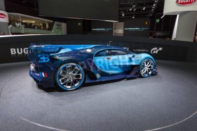 Fototapete Frankfurt, Deutschland - 15. September 2015: Bugatti Vision Gran Turismo Concept präsentiert auf der 66. Internationalen Automobil-Ausstellung in der Messe Frankfurt