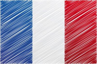 Frankreich-Flagge, Vektor-Illustration