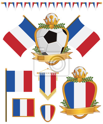 Frankreich-Flaggen