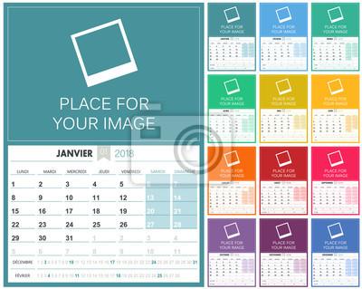 Französisch kalender 2018 / französisch planungskalender 2018 ...