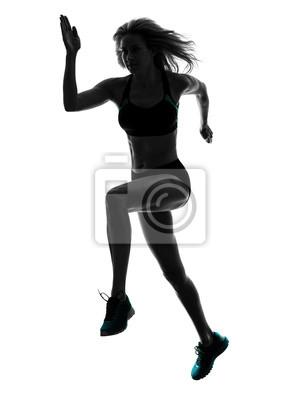 Frau Läufer laufen Jogger Joggen Silhouette