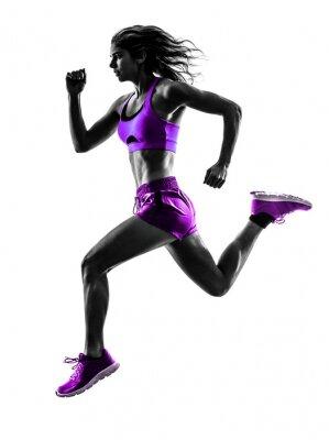 Fototapete Frau running Jogger Joggen silhouette