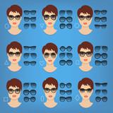 Frau Brillen Formen Für Verschiedene Frauen Gesicht Typen Quadrat