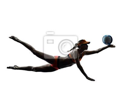 Frau Strand Volleyball Spieler Silhouette