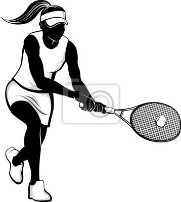 Frau Tennis Silhouette